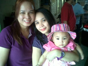My beautiful daughter and mom
