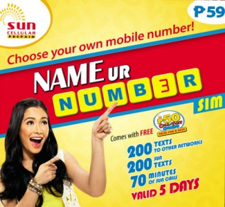 Sun Cellular: Choose Your Own Cellphone Number (SUN NAME UR NUMBER SIM)