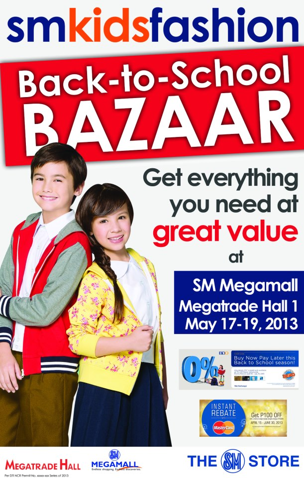 Back-to-School Bazaar Offers at the SM Kids' Fashion Warehouse Sale