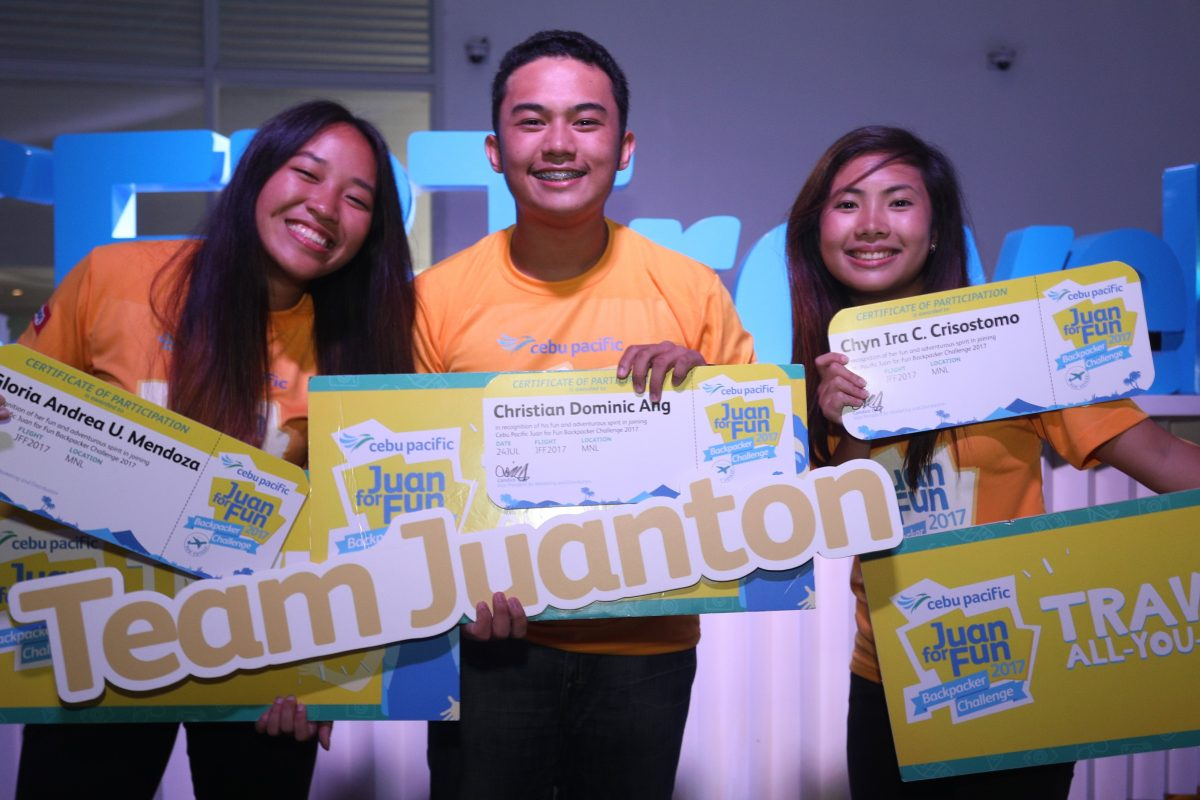 Davao Team Wins Cebu Pacific Backpacking Challenge