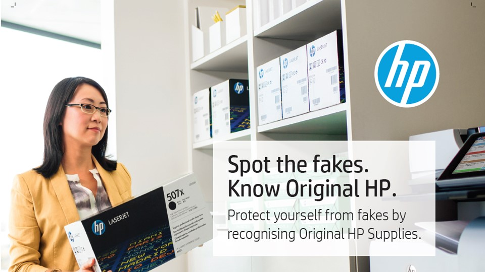 Stop the Fakes: HP helps consumers determine original HP Inks and Toners